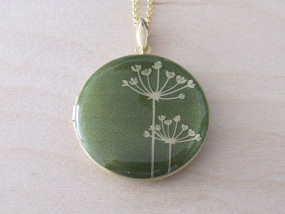 Dandelions - Brass photo Locket