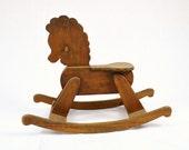 Vintage Handcrafted Rocking Horse