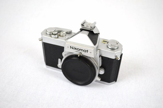 Nikon Nikkormat FTn SLR Film Camera Body with Original Case and Strap (Additional Flash Included) - Professionally Inspected