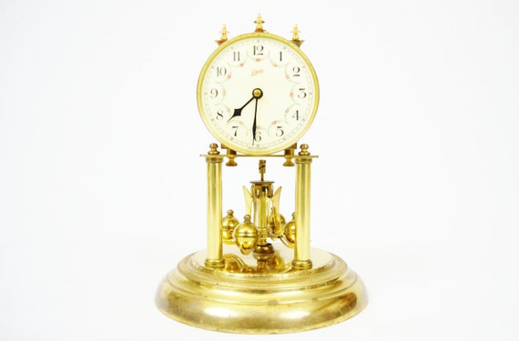 Vintage 1949 Schatz 400-Day German Anniversary Clock - Professionally Cleaned and Adjusted