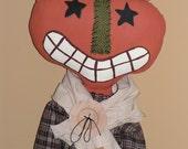 Pumpkin Head Doll with Sunflower