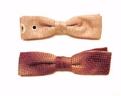 bowties / vintage Pink Clip On Bow Tie Collection Set of 2 1940s 1950s