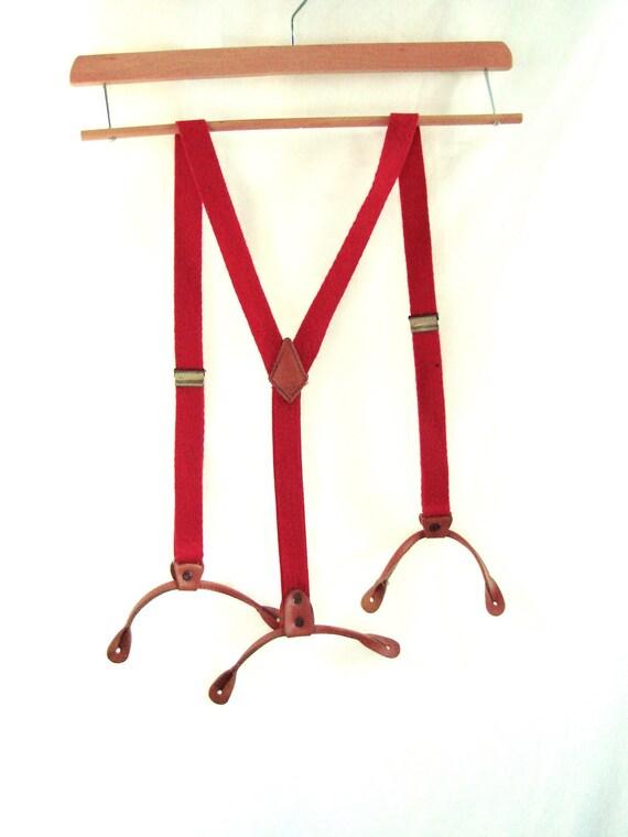 Red Apple vintage Levi's Suspenders