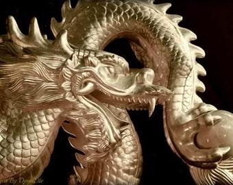 "Metallic Dragon Chinese New Year Fine Art 20x30 First Edition ""Guardian"""