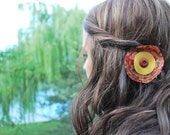Fall Floral Round Clip