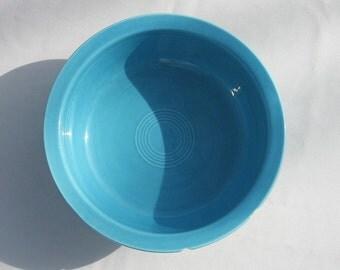 Serving Bowl - Fiesta Serving Bowl -  Turquoise Bowl -  9 Inch Nappy Bowl - Homer Laughlin - Fruit Bowl
