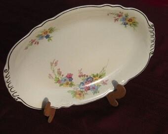 Platter - Serving Platter - Virginia Rose - Homer Laughlin - Virginia Rose China