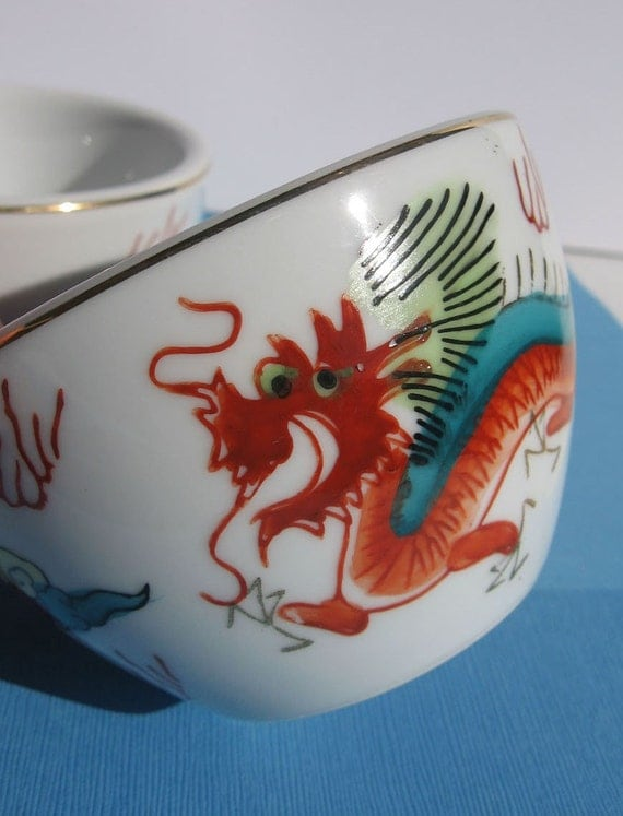 Chinese  Tea Cups and Japanese Rice Bowls TREASURY FEATURED