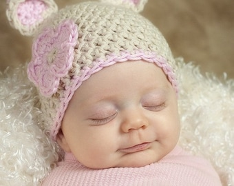 PDF Crochet PATTERN Download Sugar Bear Hat Sizes Preemie Newborn 0-6 Month 6-12 Month 12-24 Month 3-5 Years Sell What You Make
