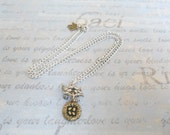 RESERVED Birds and nest charm necklace