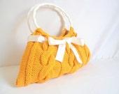 SHOULDER Bag  Yellow Mustard Bag ,wedding mother day EveryDay, Knitted,handbag,knit,crochet,gift,accessory,purse,clutch,purse,fashion