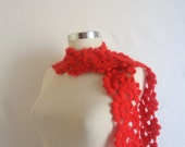Sale red scarf shawl handmade gift mother