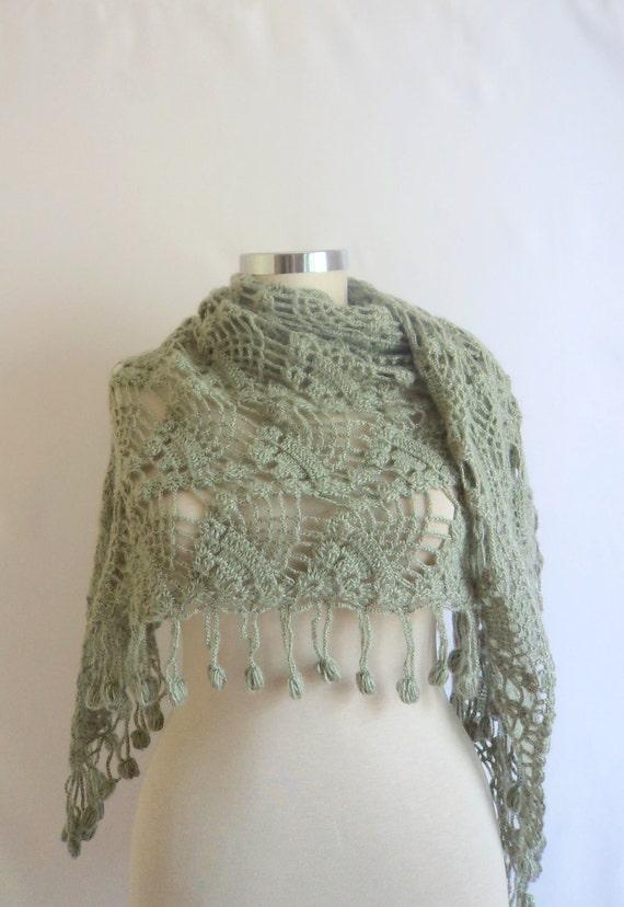 FREE SHIP Almond Green ,Wool,warm, dolman ,bolero Lacework,handmade,spring,gift,shawl,stole,shrug,crcohet,bolero,scarf,warm,wrap,