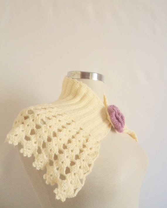 SCARVES Collar necklace Ivory Bride Shawl Shrug Stole Wrap cowl Scarf Accessories gif for you christmas new season