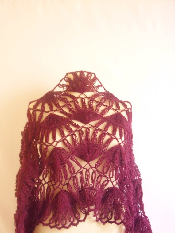 RESERVED for (darkhairedbeut) SHAWL,  Shawl ,,stole ,,gift,collar,cowl,purple