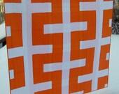 Modern Quilt, Equilibrium, in orange and white