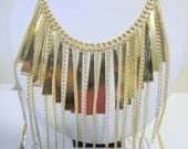 Long Crystal Necklace, Gold Layered Necklace, Gold Crystal Necklace, Gold and Crystal Necklace