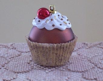 Cupcake Ornament / Christmas Ornament