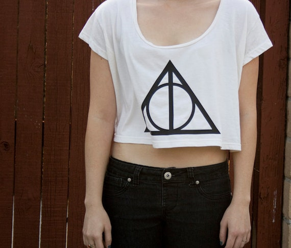 Deathly Hallows Crop Top - Inspired by Harry Potter - Made in USA by So Effing Cute
