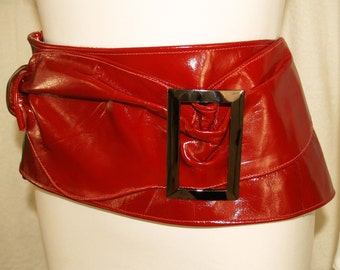 Red Leather Belt - The Hipster