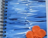 Custom Hand painted journal sketchbook  wedding guest book with sculpted embellishment