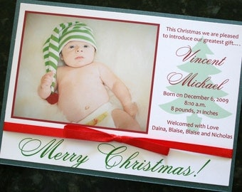 Christmas Card Birth Announcement