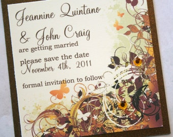 Autumn Inspired Wedding Save the Date 2