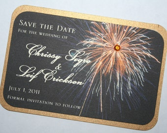Fireworks Save the Date - 2