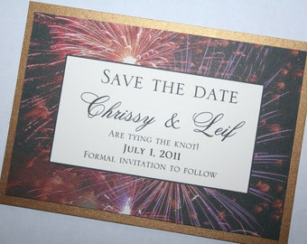 Fireworks Save the Date - 5