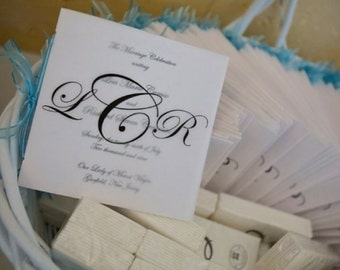 Square Vellum Monogrammed Wedding Program