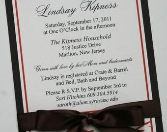 Simply Elegant Bridal Shower Invitation