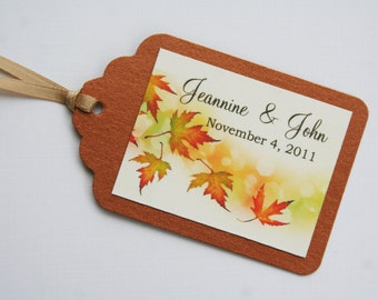 Falling Leaves Favor Tags
