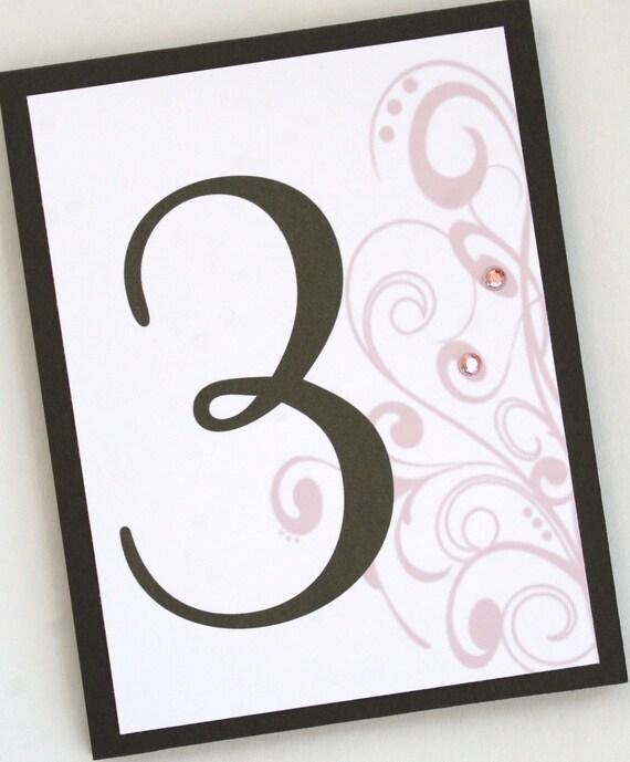Flourishing Elegance Table Numbers
