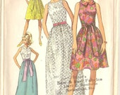 Spring Dresses, Cute and Retro Simplicity 7541 and 6371 Sewing Pattern Bundle