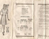 Rare Teen 1940s Mail Order Anne Adams Dress Pattern/A4775