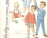 1960's Toddler Boys Simplicity Sewing Pattern 4913 Size 1/2