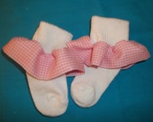 Socks with ruffles your choice of ruffle