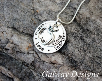 Hand Stamped Teacher's Pendant - Sterling Silver