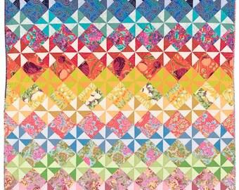 Pinwheels In My Garden Quilt Pattern