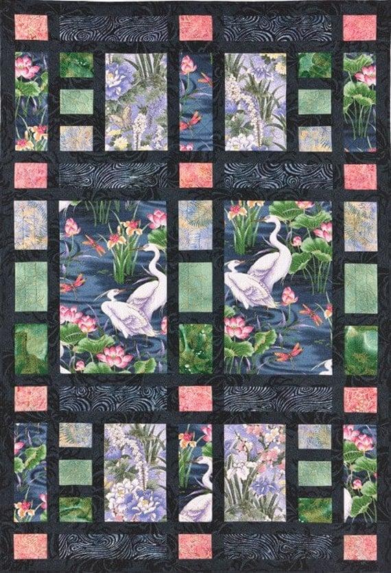 Quilting Patterns Using Panels : Shoji Screen Quilt Pattern