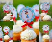 Wizard of Oz Inspired Birthday Party Cupcake Toppers