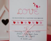 Printable Valentine's day Love Bird Invitation