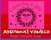 Patchouli Vanilla Natural VEGAN Laundry Soap Powder Detergent SAMPLE 6 oz.  5-10 LOADS