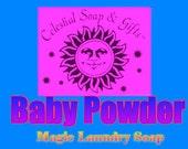 6 oz. Baby Powder  Natural VEGAN Laundry Soap Powder SAMPLE 6 oz. 5-10 Loads