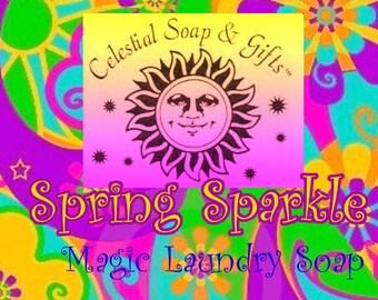 Spring Sparkle Natural VEGAN Laundry Soap Detergent Powder Bag - 40-80 Loads Gross Wt. 44 oz.