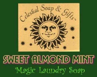 Sweet Almond Mint Natural VEGAN Laundry Soap Powder Sample 6 oz. 5-10 Loads