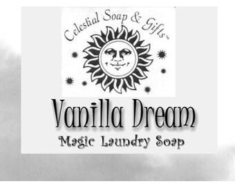Vanilla Dream Natural VEGAN Laundry Soap Powder SAMPLE  6 oz. 5-10 LOADS