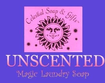 UNSCENTED Natural Vegan  Laundry Soap Powder  6 oz. SAMPLE 5-10 LOADS