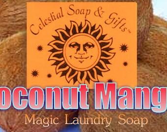 Coconut Mango Natural VEGAN Laundry Soap Powder SAMPLE 6 oz.  5-10 Loads