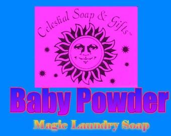 Baby Powder Natural VEGAN Laundry Soap Powder Bag - 40-80 LOADS Gross Wt. 44 oz.